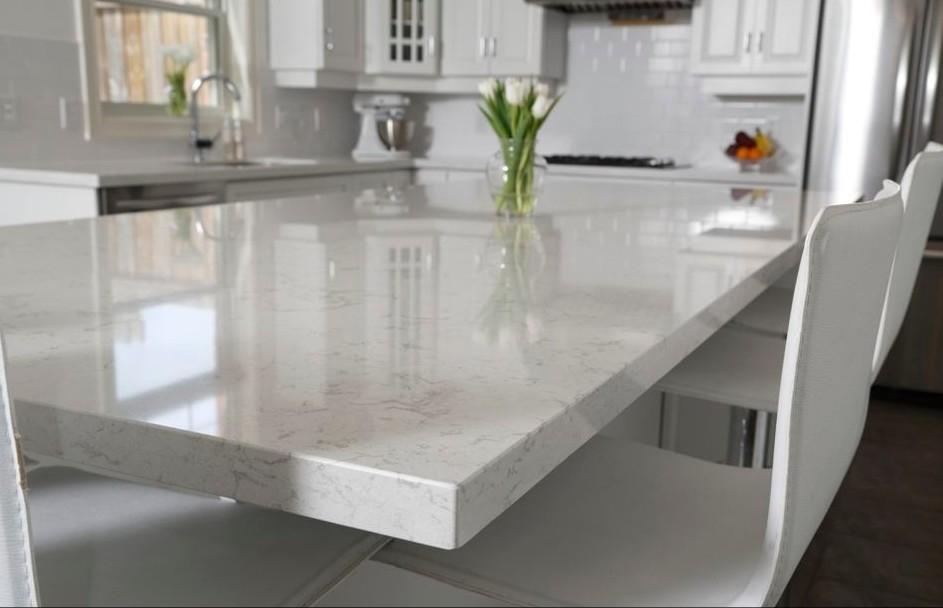 조립식 흰색 대리석 식탁 톱-조리대, 세면대 탑스 & 테이블 탑스 ...