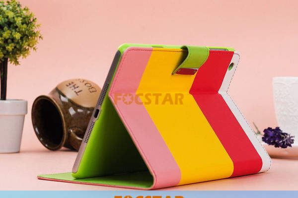 FOCSTAR Magnet Design PU Leather Wallet Type Flip Cute Case for Apple iPad Mini F-IPDMINILC019