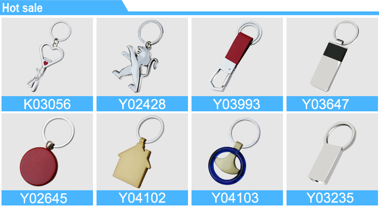 Y04103-4 Round wholesale blank plastic keychains