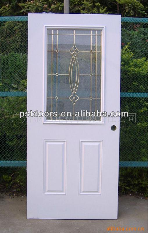 Entry steel glass door 15 lite clear glass steel exterior for 15 lite door insert