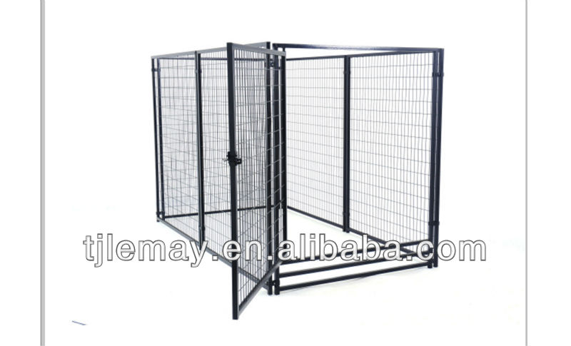 5x10x6ft Large metal fence dog kennels in garden