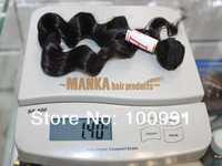 "12""-30"" 100% Brazilian virgin human hair extensions machine weft  Body wave  natural color 40G=1.4oz/pcs"
