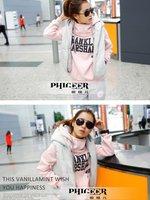 Женские толстовки и Кофты Korea design lady long sleeve hoody +pants+vest 3pcs clothing set women casual letter sports suit jacket outwear