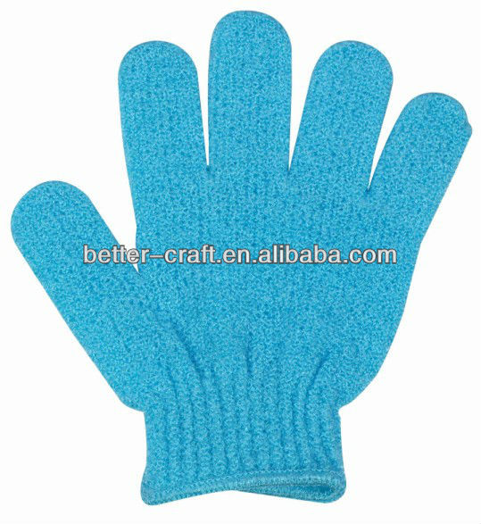 Hot sell exfoliating bath glove