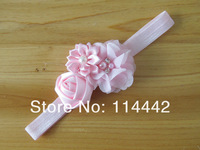 Детский аксессуар для волос 20pcs/ lot 12 colors Chiffon Flower& Rosette flower Headbands For Girls Hair accessries