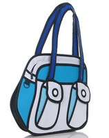 Маленькая сумочка 2012 popular woman man Comic cartoon 3D vivid Shoulder Bag HandBag carry in space cartoon bag