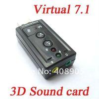 Новый usb 3d аудио виртуальным 7.1 канала звуковой карты адаптера pc аксессуары, usb адаптеру 3d аудио звуковой карты