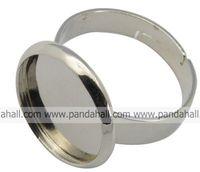кольцо-латунь компоненты, навесной кольцо база выводов, серебристый металлический цвет, размер: кольцо: около 17 мм внутренний диаметр