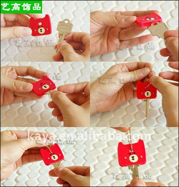 Custom soft pvc key head cover