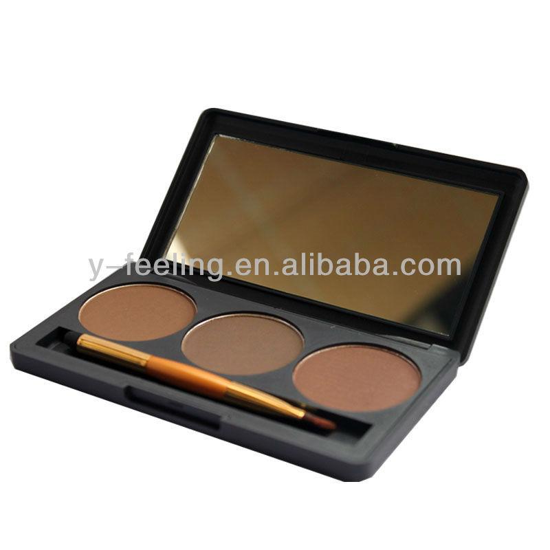 2013 Newest, Makeup Natural Eyebrow Powder, 3 Colors Palette