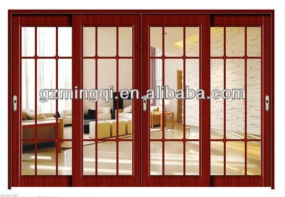 Aluminum frame tempered glass sliding balcony doors for for French door designs for balcony