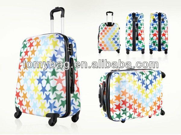 Newest girls rolling luggage bag/travel set