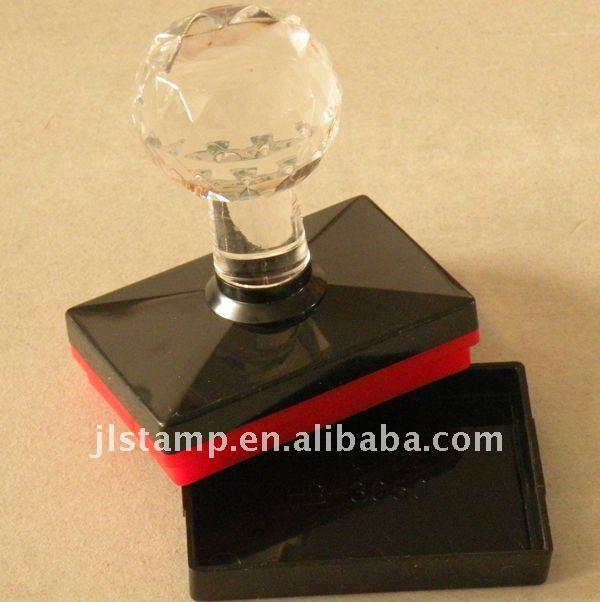 Kristall griff flash pre- eingefärbte stempel schaum