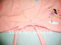 Детская одежда для девочек Children/girl's Ballet coat, Children Clothes, kids cartoon, dancing apparel, Pink Ballet coat, 5 pcs/lot -YL-5185