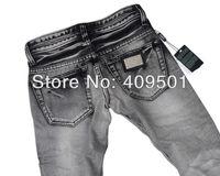 Мужские джинсы 2012 men's fashion Low waist casual straight jeans 100% cotton men's trousers brand men's clothes