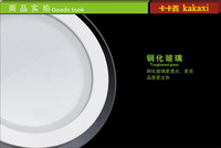 Прожектор 10pcs/lot 6w 12w 15w circular Glass led panel lighting, SMD 5730 LED round kitchen lamp DHL FedEx