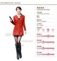 2013 Autumn Women's Slim Sweater Long-sleeve V-neck Cardigan Coat female Coat 9 Colors Free Shipping