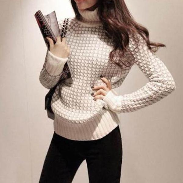 Меланжевый свитер женский доставка