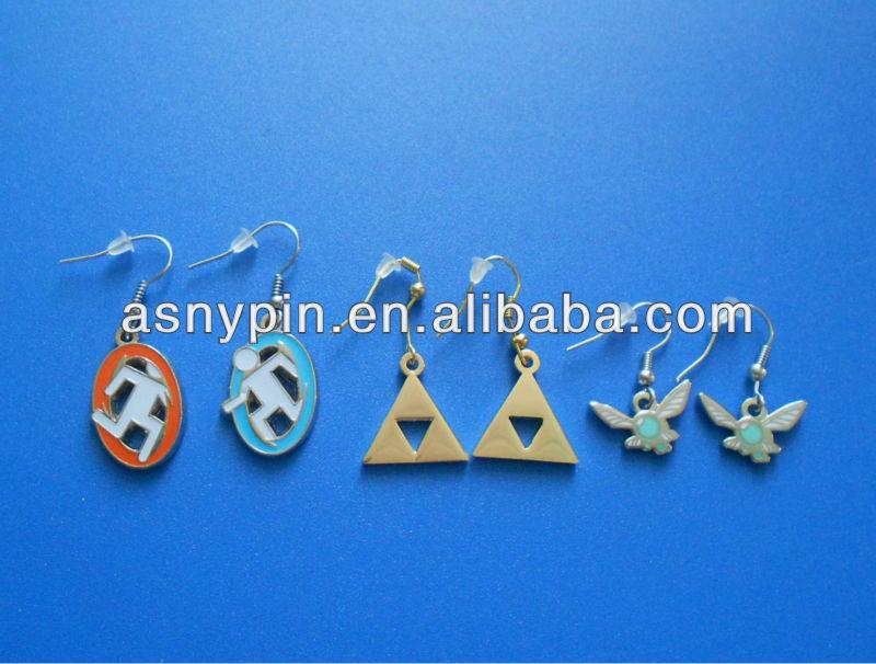 custom metal logo jewelry earring dangler