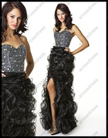 Платье на студенческий бал Luxurious 2012 Sweetheart Ruffled Organza Prom Dress SAVANNAH
