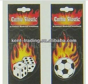 good quality soccer car air freshener hanging car air freshener OEM available