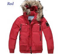 Men's Fur Collar Hat Down Jacket Fashion Hooded Parka Warm Winter Coat Free Shipping Wholesale Retail MY1036