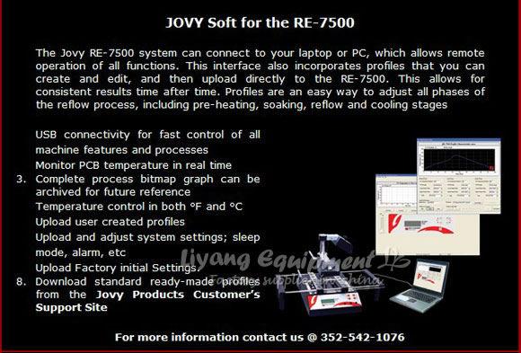 JOVY RE7500 BGA rework station soldering machine Jovy system welding machine
