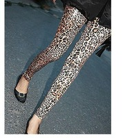 Женские носки и Колготки retail Thick warm autumn winter Women long full length Leggings Skinny Sexy Tights leopard brown white