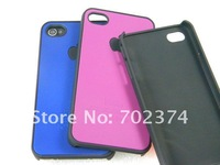 Чехол для для мобильных телефонов For iphone 4 4S case rubber coating hard PC material, 10pcs a lot, total 11 colors in stock