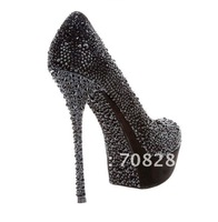 Brand womens crystal shoes 13cm heels platform shoes high heel pumps bridal shoes
