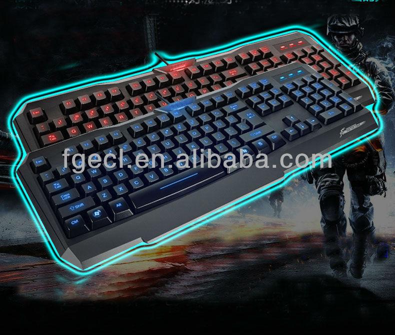 Fashion new gaming keyboard/ multimedia keyboard/led keyboard