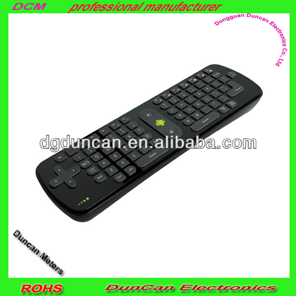 Portable USB 2.4GHz Wireless Air Fly Mouse Multi Keyboard for PC (Black)