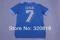 #7 CAVANI 12/13 best Thai quality SSC Napoli home blue soccer jersey and shorts soccer uniform Kit Free Shipping