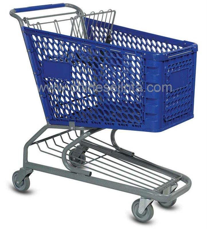 Chariot supermarché plastique