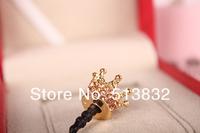 Пылезащитная заглушка для мобильных телефонов 20 pcs/L Luxury Bling Rhinestone Crown Dust Plug Universal Ear Cap Dock