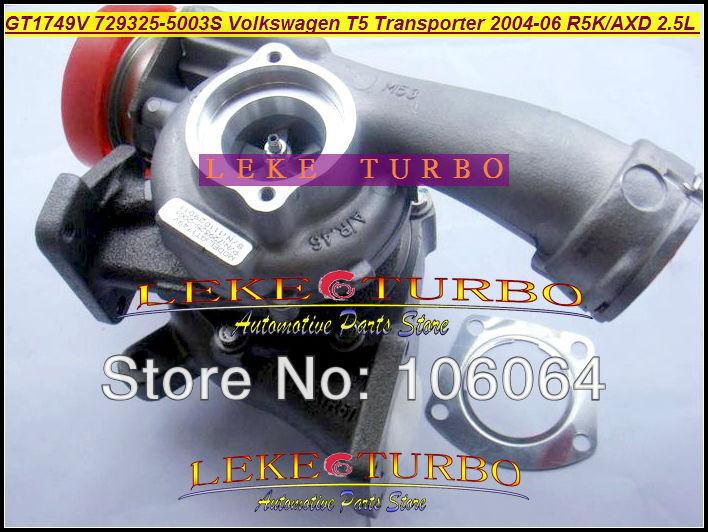GT1749V 729325-5003S Turbocharger for VOLKSWAGEN T5 Transporter R5K AXD 2.5L 130HP 2004-2006 TURBO (7)