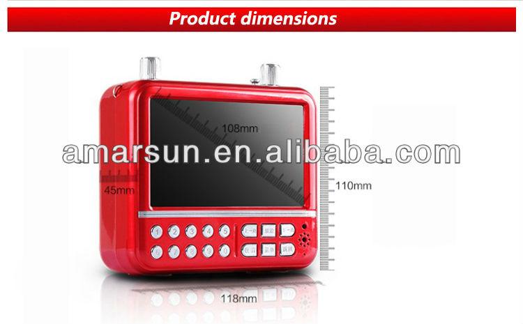 Pocket mini fm radio mp3 player