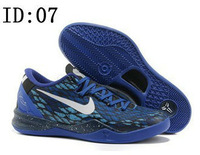 Мужская обувь для баскетбола 2013 new KbM 8 Men's Basketball Shoes Cheetah Christmas Violet Pop Volt men Fashion shoes 21 color