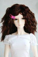 Аксессуары для кукол 65# Dark Brown Crimp Wig 1/3 SD DOD BJD Dollfie 8-9