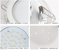 Прожектор Retail LED 6w 12w 15w circular Glass led panel lighting, SMD 5730 LED round kitchen lamp indoor lighting