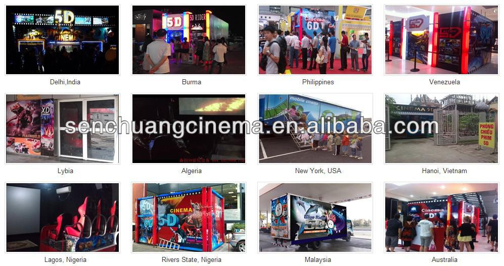 Popular mobile 5D cinema with motion chair in truck