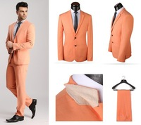 Мужской костюм Fashion Korean Style Orange / Purple Men Casual Blazers Suit Tuxedo Designs Men Urban Clothing 2013