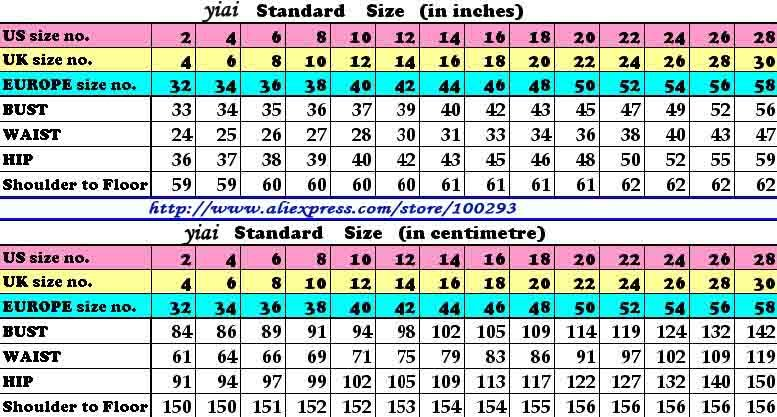 yiai size chart