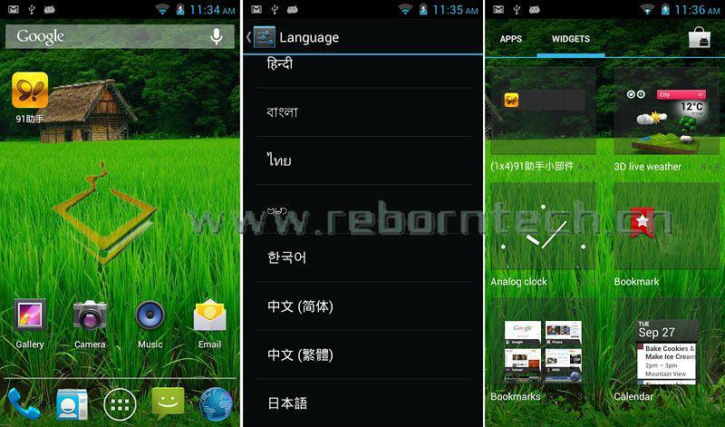 4.8 inch MTK6577 dual core china phone