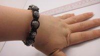Браслет из бисера Shamballa Bracelets, New Shamballa crystal Bracelets Micro Pave CZ Disco Ball Bead, CJB076