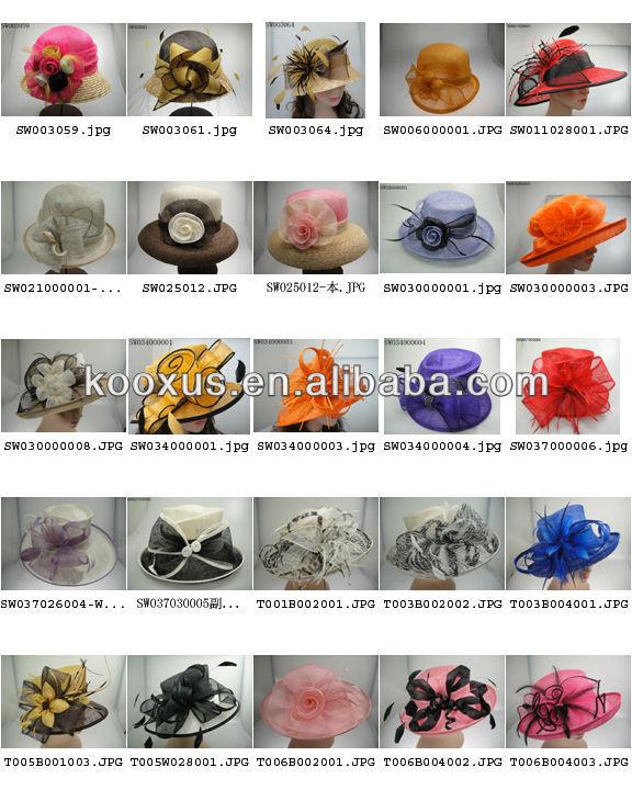 Fashionable Sinamay Hat/Church Hat/Wedding Hat