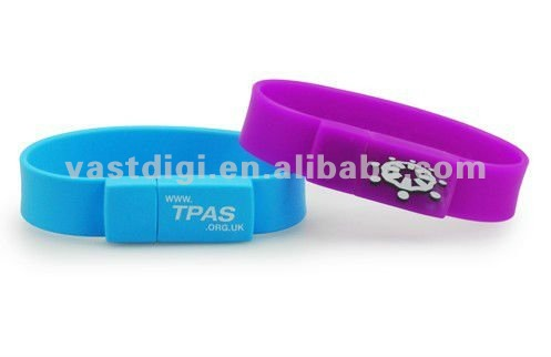 32GB colorful silicon bracelet promotional USB flash drive / USB flash memory for advertising gifts(VDS-024)
