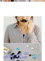 Устройство для сматывания шнура питания 20 pieces x Mustache & Glasses Earphone Winder Popular Headphone Cord Organizer Bobbin Cable Winder