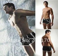 прохладный сексуальные мужчины плавают плавки брюки шорты m l черный белый желтый синий 4 цвета