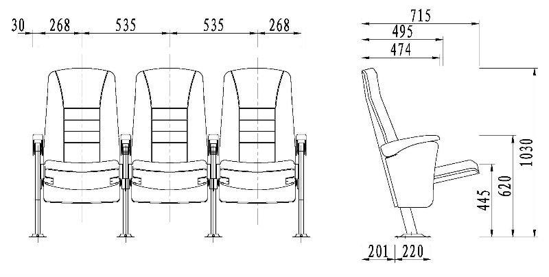 1 Auditorium Seat Dimensions